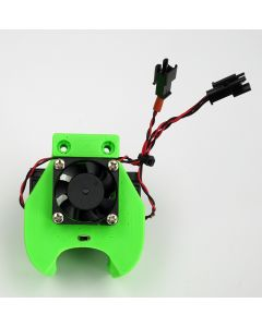 ALLex42 assembled hot-end and filament shrouds and noozle light