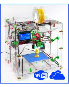 JellyBOX 2 Cloud - Assembled 3D Printer Kit with heated bed, webcam, WiFi & cloud slicing. Chromebook friendly.