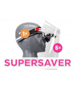 """SuperSaver"" Set - 1× Frame, 6× Visor & 6× Comfort Padding"