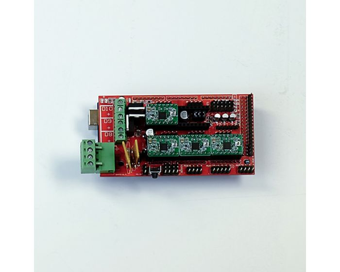 Arduino MEGA 2560, RAMPS 1.4, stepper drivers, heat sinks
