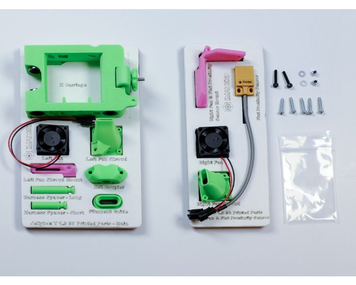 X-carriage parts with dual fan option and flat proximity sensor