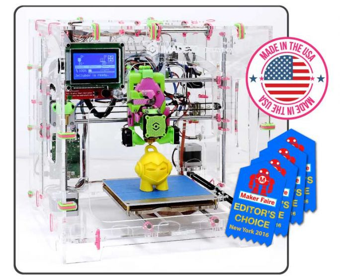 Assembled JellyBOX 3D printer