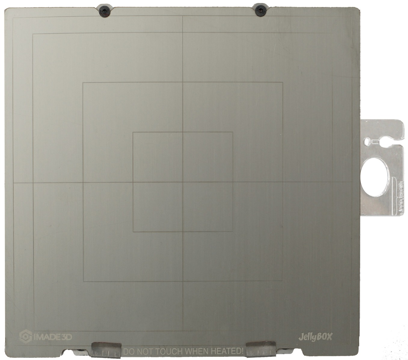 Flexible print plate mounted on the JellyBOX 2 heated bed